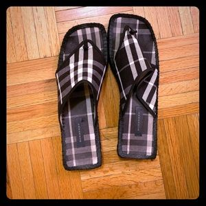 Burberry Thong Mule Espadrille Size 40